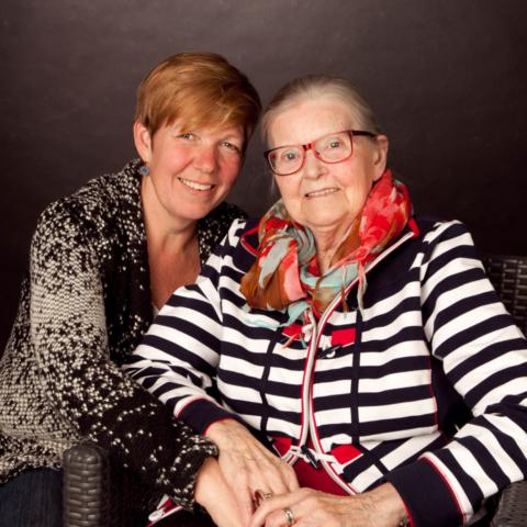 Portret - Annette en moeder